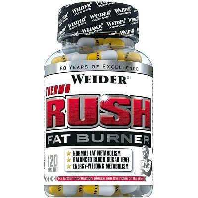 Spalovače tuků Weider Thermo Rush Fat Burner, 120 kapslí