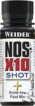 Anabolizéry a stimulanty Weider NOS-X 10 shot, 60ml