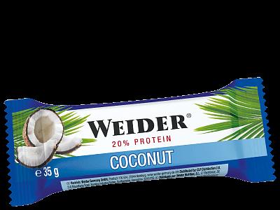 Tyčinky Weider 20% Protein bar Coconut, 35g