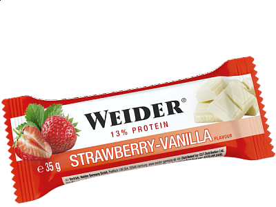 Tyčinky Weider 13% Protein bar Strawberry Vanilla, 35g