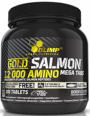 Aminokyseliny Olimp Gold Salmon 12000 Amino Mega Caps, 300 tablet