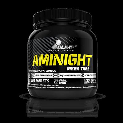 Aminokyseliny Olimp Aminight Pro-night Recovery Formula, 300 mega tabs