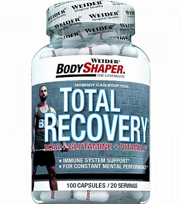 Anabolizéry a stimulanty Weider Total Recovery BCAA+Glutamine+Vitamin C, 100 kps