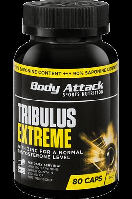 Anabolizéry a stimulanty Body Attack Tribulus Extreme, 80 kapslí