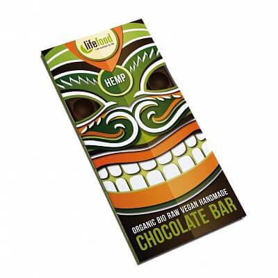 Zdravé potraviny Lifefood Chocolate s konopným semínkem BIO, 70g