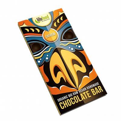 Zdravé potraviny Lifefood Chocolate s kešu ořechy BIO, 70g