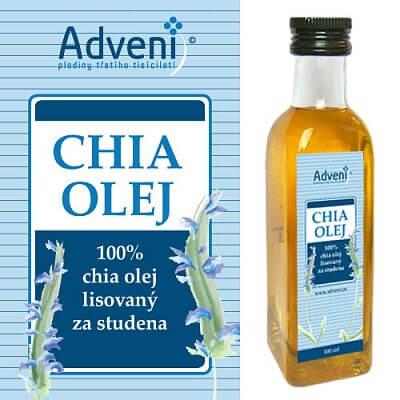 Zdravé potraviny Adveni Chia olej, 100ml