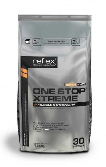 Sacharidy a gainery Reflex Nutrition One Stop Xtreme, 4,35kg
