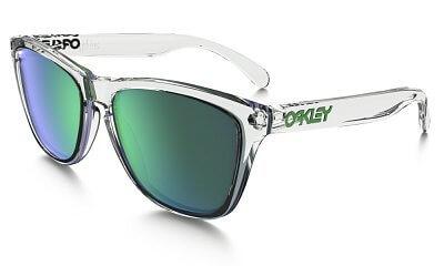 Sluneční brýle Oakley Frogskins Crystal Clear w/ Jade Irid