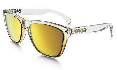 Sluneční brýle Oakley Frogskins Crystal Clear w/ 24K Irid