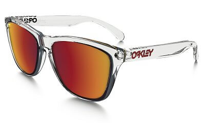 Sluneční brýle Oakley Frogskins Crystal Clear w/ Torch Irid