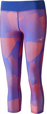 Dámské běžecké kalhoty Mizuno Phenix Printed 3/4 Tights