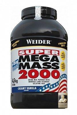 Sacharidy a gainery Weider Super Mega Mass 2000 Gainer, 4500g