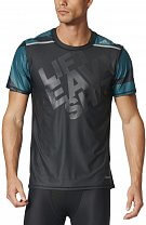 adidas Techfit Chill Fitted Slogan Tee