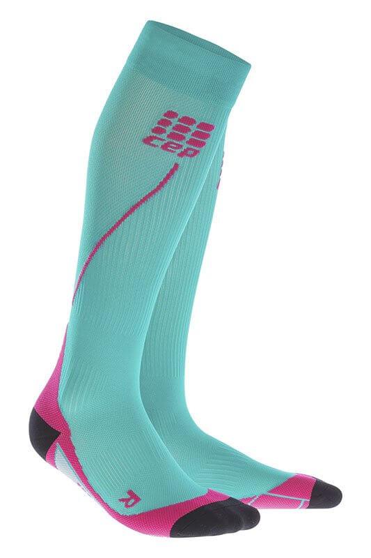 CEP Běžecké podkolenky dámské modrá lagoon   růžová - dámské ponožky ... b6f2c6ac3f