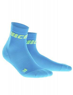 Ponožky CEP Krátké ponožky ultralight pánské elektrická modř / zelená