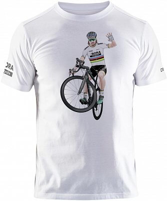 14128367c1032 Craft Tričko BORA - Hansgrohe Sagan biela - Wheelie - pánske tričko ...