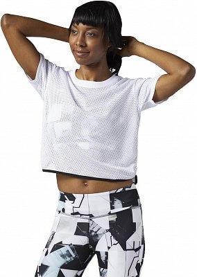 ee98591dda85 Dámske športové tričko Reebok Workout Ready Cotton Series LTHS Mesh Tee