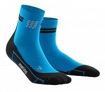 3e022d151a9 CEP Běžecké kotníkové ponožky merino pánské elektrická modř   černá