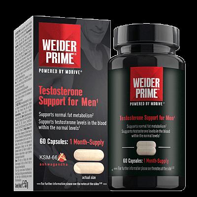 Anabolizéry a stimulanty Weider Prime Testosterone Support For Men, 60 kapslí
