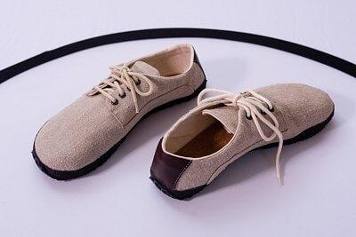 Unisexová vycházková obuv Ahinsa Lněná přírodní (Sundara)