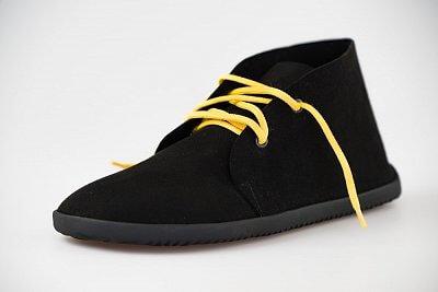 Unisexová vycházková obuv Ahinsa Černá semišová kotníčková