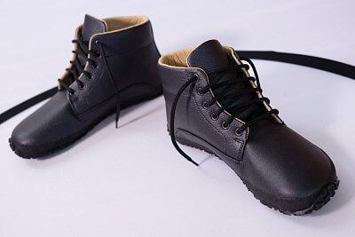 Unisexová vycházková obuv Ahinsa Černá kotníčková (Sundara)