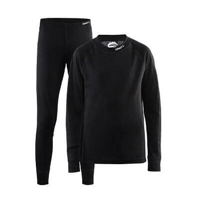 Spodní prádlo Craft Set Nordic Wool Junior černá