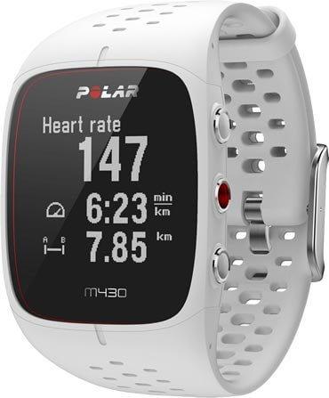 Běžecké hodinky s GPS Polar M430 bílý