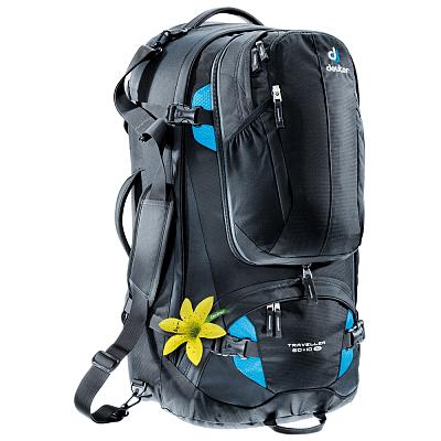 Tašky a batohy Deuter Traveler 60+10 SL (3510015) black-turquoise