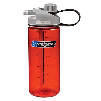 Športové fľaše Nalgene MultiDrink Červená/černá