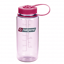 Nalgene Wide Mouth 500 ml (2178-2216) Clear Pink 2178-2216