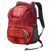 Jack Wolfskin Ramson 26 Pack indian red woven check 7941