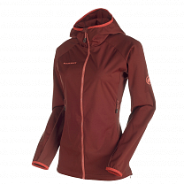 Mammut Keiko Light SO Hooded Jacket Women maroon