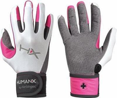 Fitness vybavení Harbinger dámské rukavice na crossfit s omotávkou růžové