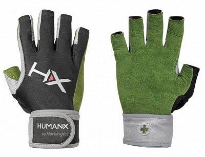 Fitness vybavení Harbinger 3/4 rukavice X3 s omotávkou zelené
