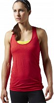 Reebok Womens Global Blank Burnout Tank