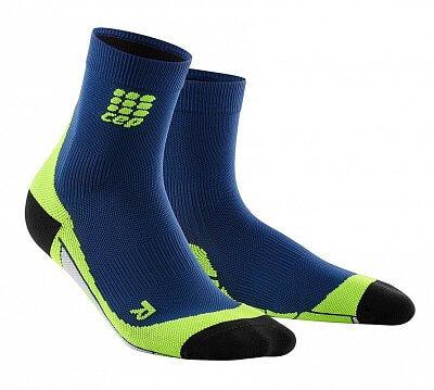 Ponožky CEP Krátké ponožky pánské III oceánová modř / zelená