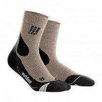 CEP Outdoorové ponožky MERINO pánské III světlá písková / černá
