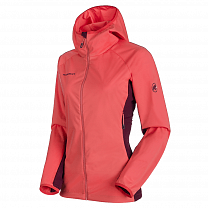 Mammut Keiko Light SO Hooded Jacket Women 3460 barberry-merlot