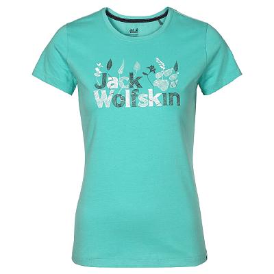 Trička Jack Wolfskin Brand Tank Women pool blue