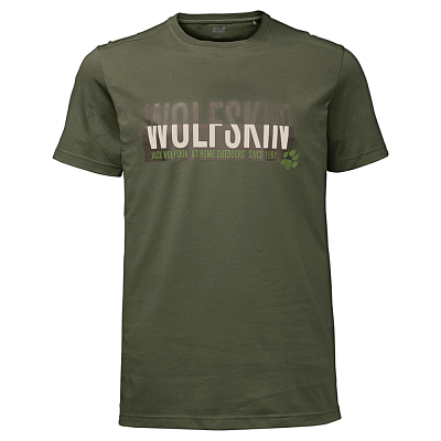 Trička Jack Wolfskin Slogan T Men woodland green 5052