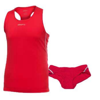 Tílka Craft  Multi 2-pack Girl červená