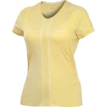 Trička Craft W Triko ER V-neck dámské žlutá