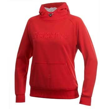 Mikiny Craft W Mikina Flex Hood červená