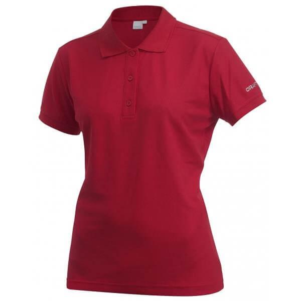 Trička Craft W Triko Classic Polo Pique červená