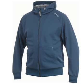 Mikiny Craft Mikina Flex Hood Zip modrá