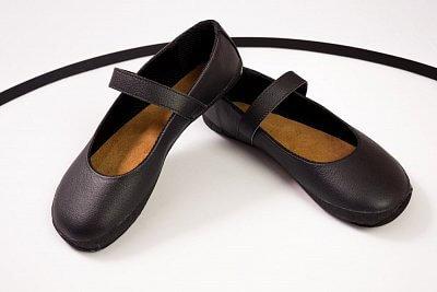 Dámské barefoot obuv Ahinsa Balerínka (černá s černou podšívkou) (Sundara)