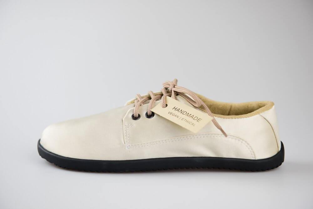 Unisexová barefoot obuv Ahinsa Designová zlatá lesklá lifo+ (Sundara)