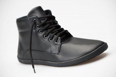 Unisexová barefoot obuv Ahinsa Trek Bare Ankle AIRNET® Černá